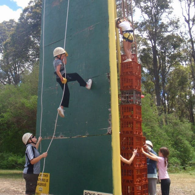 Abseiling Crate Climb