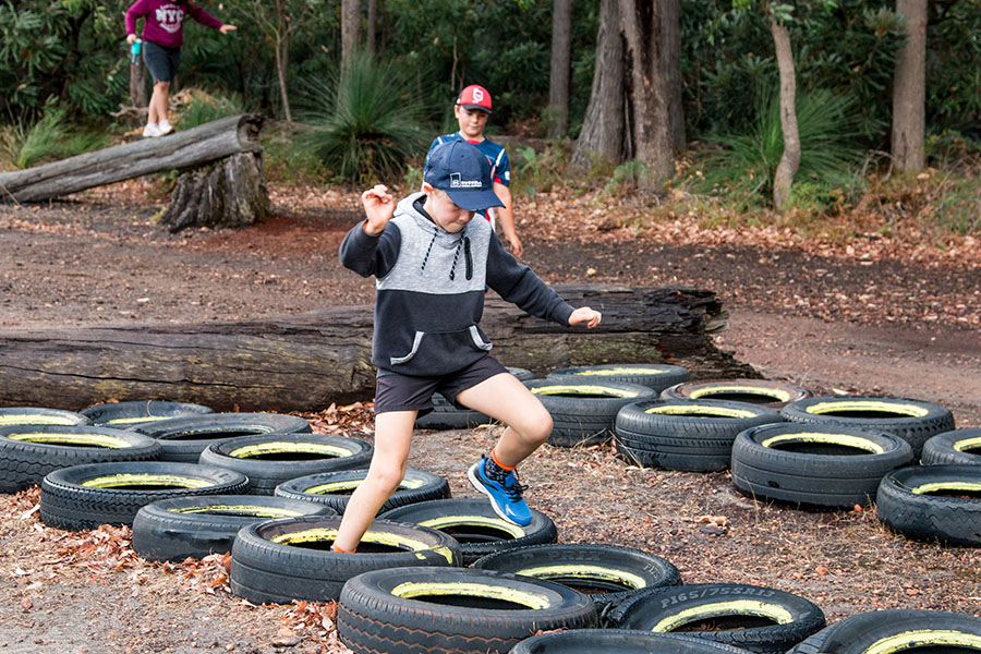 Dare Adventures Adventure Course Tire Jumping